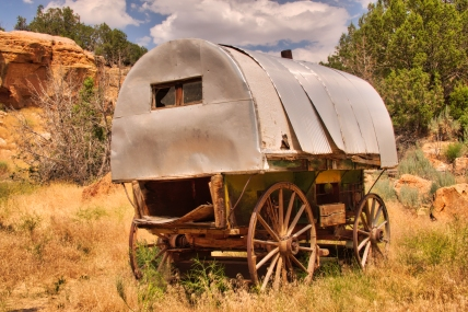 An Old Shepherd's Wagon At The Clew Ranch